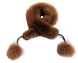 Alpakaandmore, Women Alpaca Fur Scarf, Brown,Pom Pom 31.5 Inch (31.5 Inch) - $1.267,20 MXN
