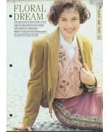 Knitting pattern for Ladies edge to edge waistcoat, with Swiss darning p... - $1.50