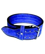CP BRAND NEW POWER WEIGHT LIFTING BELTS BLUE HIGH QUALITY, ALL LEATHER F... - $57.74