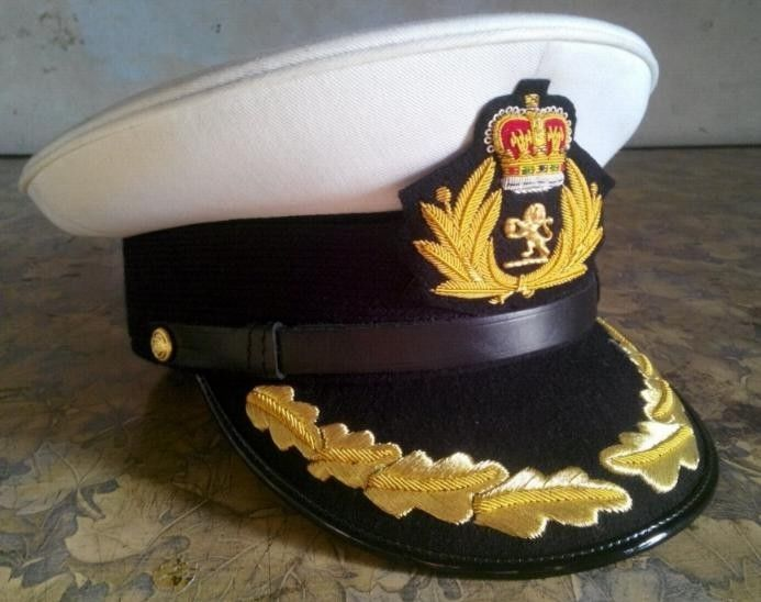 CUNARD QUEEN MARY 2 SHIP CAPTAIN HAT WHITE CLOTH NEW  SIZE 57 TO  60, HI Quality