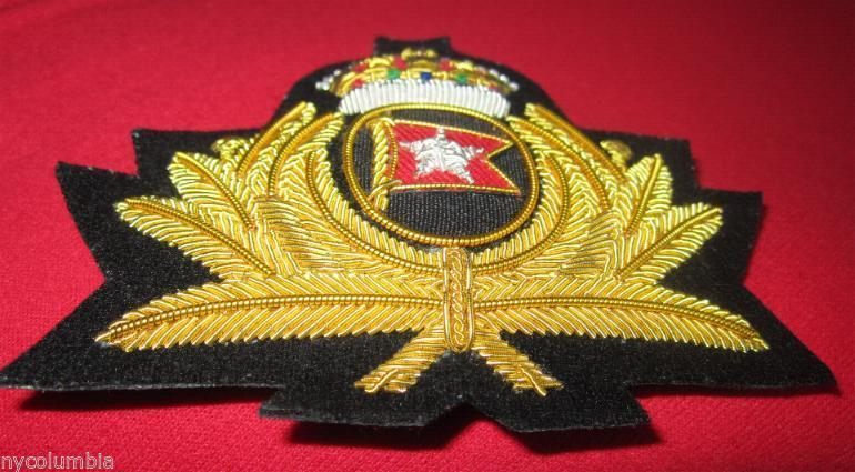 WHITE STAR LINE BADGE NEW TITANIC OFFICER CAPT SMITH HAT BADGE - CP MADE FREE SH