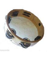 Church TAMBOURINES Size 8 Inch CP Brand New Double Row Jingles Goat Skin... - $12.83