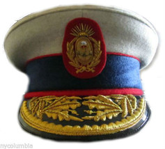 ARGENTINA ARMY GENERAL HAT CAP NEW HAND EMBROIDERED CP MADE REPRODUCTION - $270.00