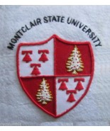 MONTCLAIR STATE UNIVERSITY COLLEGE POCKET BADGE. CP COLUMBIA HAND EMBROI... - $21.33