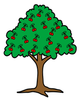 Cherry Tree-Digital Clipart - $2.00
