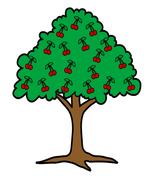 Cherry Tree-Digital Clipart - $4.00