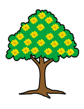 Yellow Flower Tree-Digital Clipart - $2.00