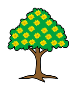 Yellow Flower Tree-Digital Clipart - $3.00
