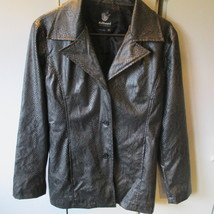 Dollhouse Faux Leather Reptile Print Jacket Size M - $39.95