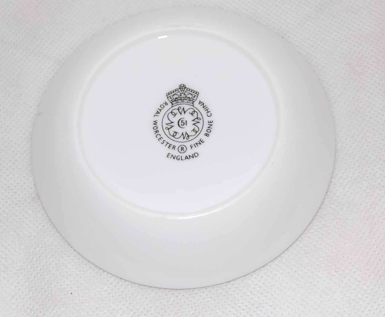 Royal Worcester English Grey Rose Butter Dish Pin Tray