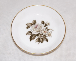 Royal Worcester English Grey Rose Butter Dish Pin Tray  - $10.00