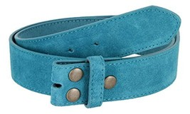 Suede Leather Casual Jean Belt Strap for Men (Blue, 44) - $9.85