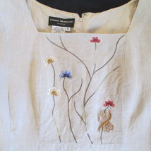 Lovely Embroidered Petite Linen Dress      Size: 12P     Donna Morgan - $26.95
