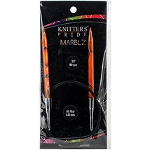 "Knitter's Pride KP710088 10.5/6.5mm Marblz Fixed Circular Needles, 32"" - $16.99"