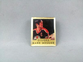 Marc Messier Pin - Edmonton Oilers - Featuring Stats on Back - By Ace - $19.00