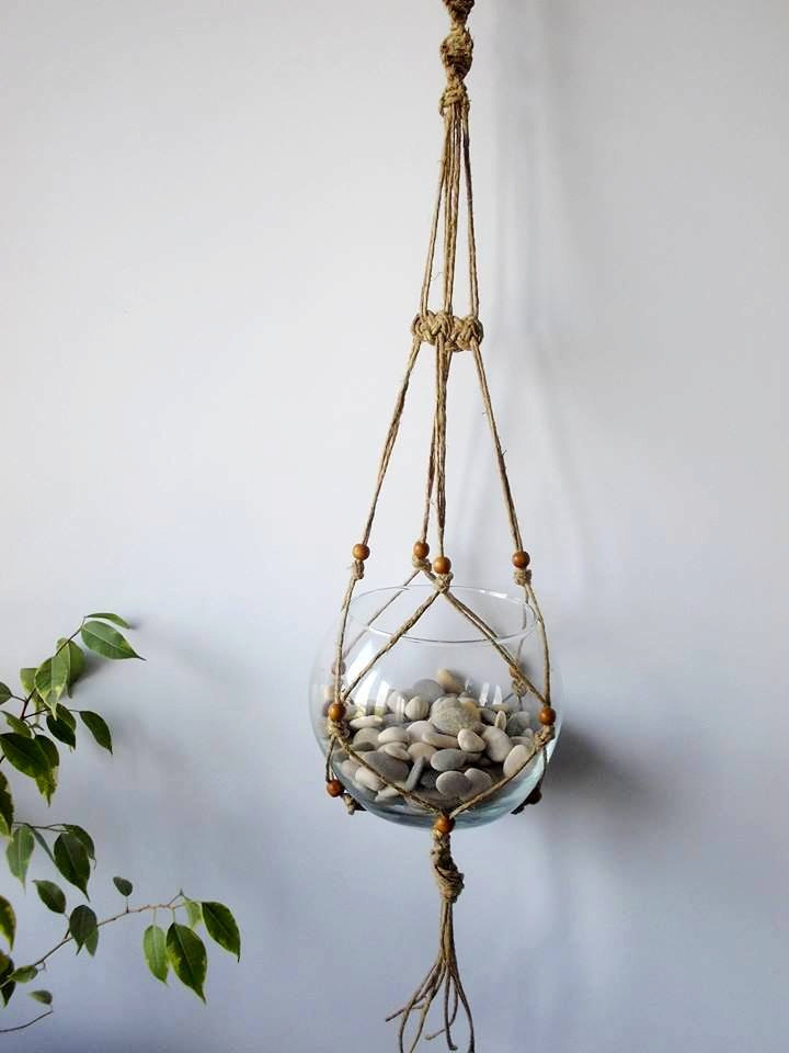 Twine Macrame Plant Hanger Indoor Plant Holder Hanging
