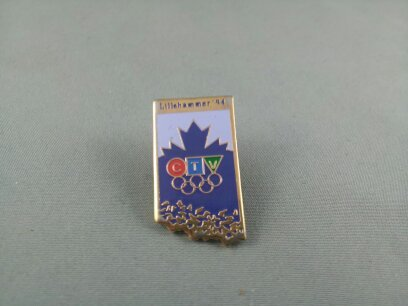 Primary image for Rare - 1994 Winter Olympic Games Pin - CTV British Columbia Broadcast Pin