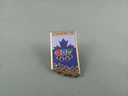 Rare - 1994 Winter Olympic Games Pin - CTV British Columbia Broadcast Pin