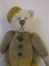 "Miniature Signed for Ganz Artist Teddy Bear Jointed 3"" Bellhop w jewel b... - $14.99"