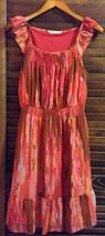Multi Watercolor Print Polyester knee length, sleeveless Shift Dress - $77.22