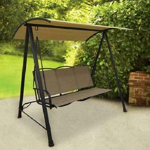 Deluxe 3 Person Swing Sling Canopy Classic Garden Porch Sturdy Comfort R... - $162.90