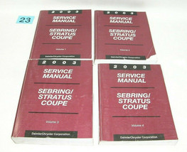 2003 Sebring Stratus Coupe Factory Service Manual Set USED CONDITION #23 - $49.45