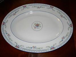 """Wedgwood Rosedale 15 1/2"""" Serving Platter Pink Blue Floral R4665 - $69.29"""