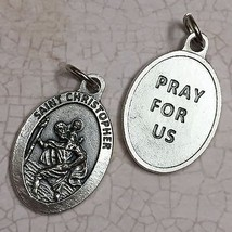 "Saint Christopher Medal Pendant Protector Protect Pray for Us Prayer Catholic 1"" - $6.95"