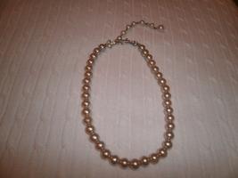 Vintage Imitation Pearl Choker Necklace  - $10.00