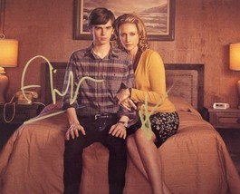 Bates Motel Vera Farmiga + Freddie Highmore Hand Signed 8x10 Photo COA P... - $99.99