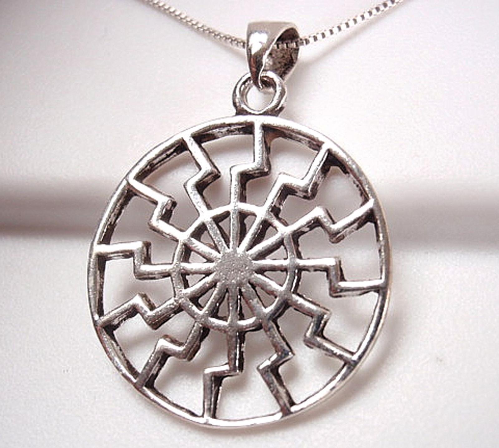 Aztec Calendar Style Pendant Sterling Silver Corona Sun ...