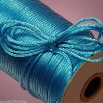 100 feet 2mm Nylon SATIN CORD TURQUOISE BLUE Macrame ~ Crafts Kumihimo B... - $9.89