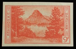 1935 9c Glacier, Imperforate Single Stamp issued without gum Scott 764 M... - $2.66