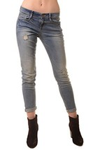 ICONOFLASH Women's Casual Distressed Light Wash Boyfriend Skinny Jean, Size 9 - $44.54
