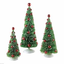 3 Snowbabies Green Christmas Tree Figurines Department 56 scenery