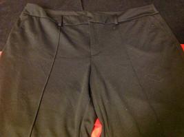 Elle Three Quarter Length Ladies Black Pants Size 20W