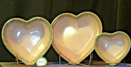 Stoneware Heart Shaped Serving Bowls AA-192037 (3 pieces) image 2