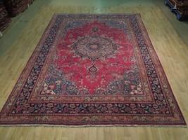 Large Medallion Handmade Area Rug Traditional Sarouk 8x11 Persian Rug Kh... - $765.42