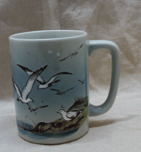 Vintage OTAGIRI JAPAN Stoneware Sea-gulls Design Coffee Mug // Coffee Cup - $6.00