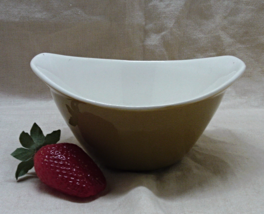 Vintage Mid Century Modernist Style Olive Green Bowl - $8.00