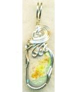 Australian Opal Silver Wire Wrap Pendant 67 - $34.99