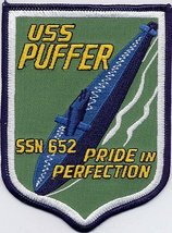 US Navy SSN-682 USS Puffer Submarine Patch Insignia Patch - $9.99