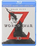World War Z (Blu-ray 3D + Blu-ray + DVD) (2013) - $6.95
