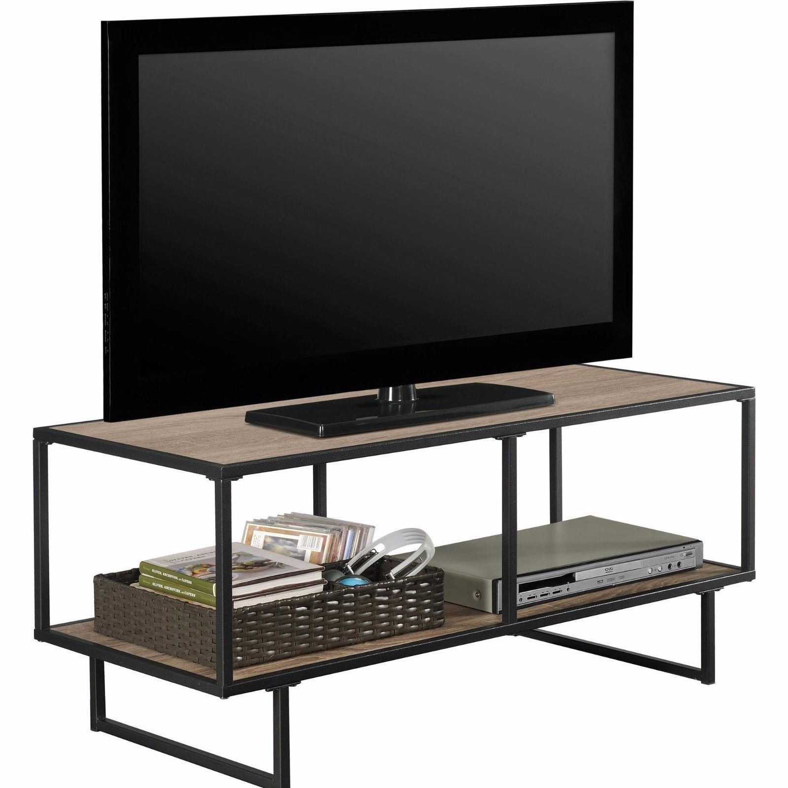 Tv stand media storage stand console center furniture flat for Tv console with storage