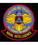 US Navy Naval Intelligence In God We Trust All Others We Monitor Patch - $9.99