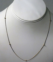 "Italian Vermeil Sterling Silver Vintage Chain With Floating Beads 18"" - $16.83"