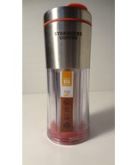 Starbucks Via Red Stainless 2009 Ready Brew Travel Tumbler - $13.86