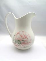Royal Doulton White Bone Pink Flower Pitcher - $19.80