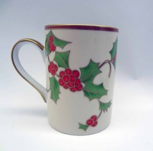Fitz and Floyd Christmas Holly Coffee Cup Mug - $16.83