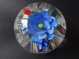 Murano Venezia Italy Flower Snail Art Glass Paperweight Small Light Scratch - $27.72